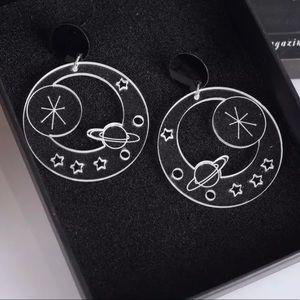 ✨2/$25✨NWT - EARRINGS - Clear acrylic solar planet